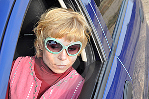 Car Series, Blonde And Green Sunglasses Stock Photos - Image: 14125803