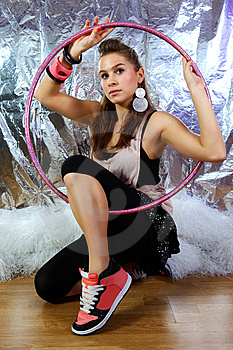 Portrait Of A Young Dancing Girl Royalty Free Stock Photography - Image: 14128877