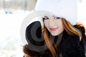 Winter Girl Royalty Free Stock Photos - Image: 14129018