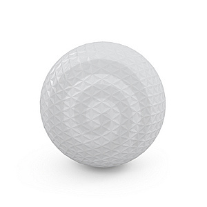 Concept Golf Ball Isolated On White Royalty Free Stock Images - Image: 14129639