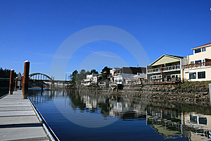 Waterfront Shops Royalty Free Stock Photos - Image: 14129938