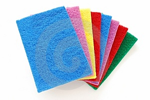 Colorful Cleaning Sponges Royalty Free Stock Photo - Image: 14130235