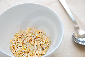 Small Serving Of Healthy Oatmeal Stock Photo - Image: 14130260