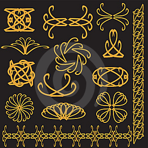 Set Of Decor Elements Stock Image - Image: 14131571