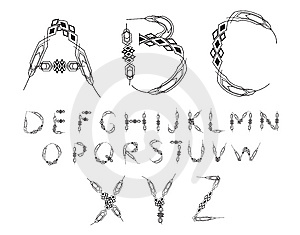 Stylish Alphabet Stock Photography - Image: 14131752
