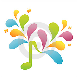 Colorful Musical Note Background Royalty Free Stock Photography - Image: 14132677