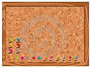 Blank Corkboard With Pins Stock Images - Image: 14132884