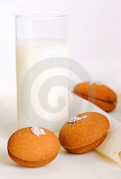 Glass Of Milk With Cookies Stock Photos - Image: 14132903