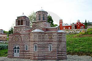Serbian Orthodox Monastery Miniature Stock Photo - Image: 14133550