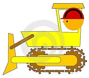 Bulldozer Driver Stock Photo - Image: 14133820