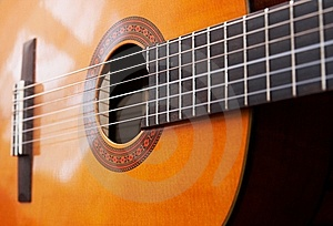 Classical Acoustic Guitar Stock Photo - Image: 14134600
