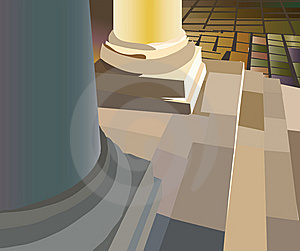 Bottom Of Round Column Stock Photos - Image: 14135093