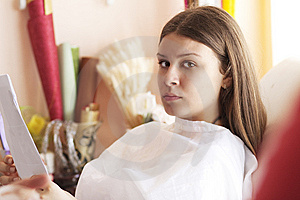 Waiting For Make-up Treatment Stock Photos - Image: 14135153