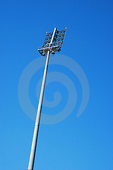 Stadium Lighting Tower Stock Image - Image: 14135481