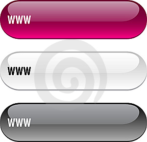 WWW Button. Royalty Free Stock Photo - Image: 14137175