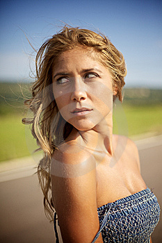 Blond Woman On Summer Day Stock Image - Image: 14137791