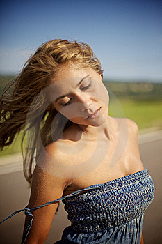 Blond Woman On Summer Day Royalty Free Stock Photography - Image: 14137847