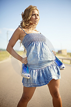 Blond Woman On Summer Day Stock Image - Image: 14138051