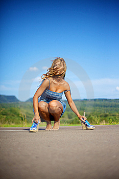 Blond Woman On Summer Day Royalty Free Stock Photography - Image: 14138177