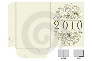 Template For Gift Map Stock Photos - Image: 14140063