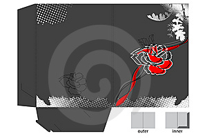 Decorative Map With Flowers Royalty Free Stock Image - Image: 14140066