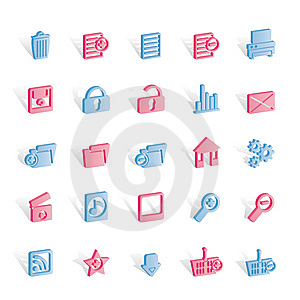 25 Detailed Internet Icons Royalty Free Stock Images - Image: 14140309