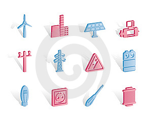 Electricity And Power Icons Royalty Free Stock Photo - Image: 14140345