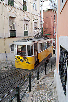 Lisbon Typical Tram Stock Image - Image: 14140671