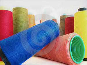 Group Of Colored Sewing Threads Stock Image - Image: 14141211
