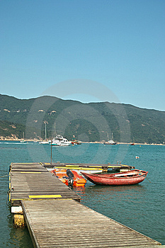 Little Pier With Boats Royalty Free Stock Photo - Image: 14141255