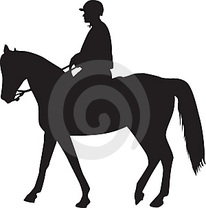 Man On The Horse Silhouette Stock Images