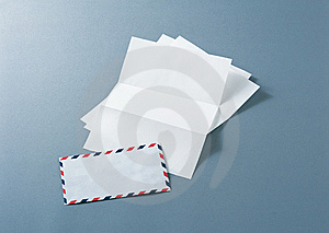 Air Mail With Paper Sheets Royalty Free Stock Images - Image: 14146249