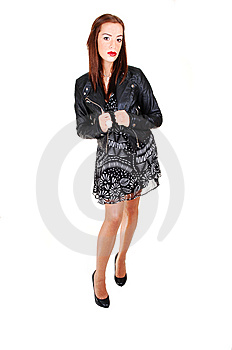 Girl With Black Jacket. Royalty Free Stock Photos - Image: 14146328