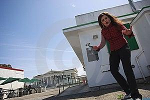 Latino Woman Acting As A Gang Bangger Stock Photos - Image: 14149553