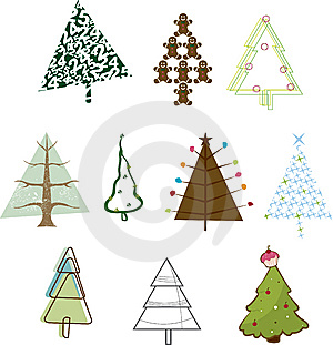 Iconic Christmas Trees Royalty Free Stock Photography - Image: 14149897