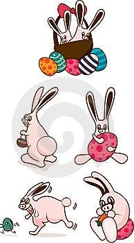 Cuddly Easter Bunnies Stock Photos - Image: 14150023