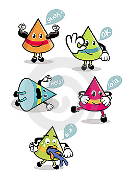 Cone-Shaped Cartoons Stock Photo - Image: 14150920