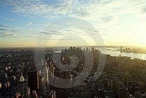 New York Sunset Royalty Free Stock Image - Image: 14151026