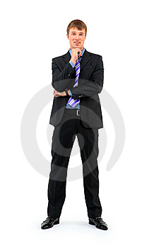 Full Length Of A Smiling Young Businessman Royalty Free Stock Photo - Image: 14153995