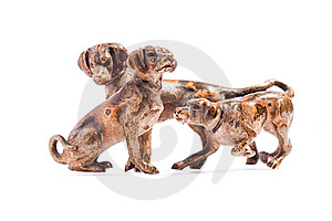 Dogs On A White Background Royalty Free Stock Image - Image: 14154716