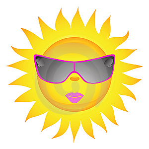 Sun Icons. Vector Illustration Royalty Free Stock Images - Image: 14155079