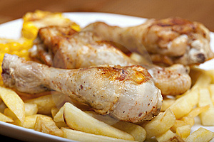 Grilled Chicken Leg Royalty Free Stock Images - Image: 14155099