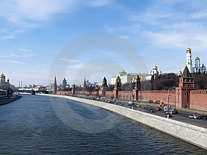 The Kremlin Quay Stock Photos - Image: 14155233
