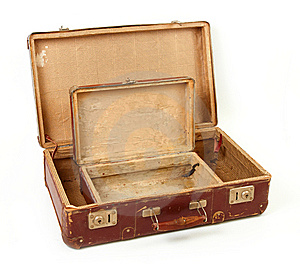 Two Old Suitcases For Travel Royalty Free Stock Image - Image: 14155526