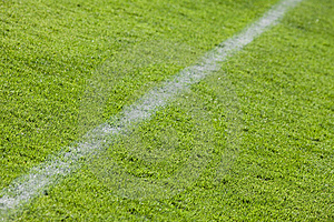Football grass field Royalty Free Stock Images