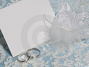 White Card For Congratulation Stock Photo - Image: 14156270