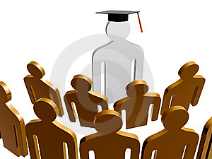 Scholar Leader Icon Symbol Royalty Free Stock Images - Image: 14156349