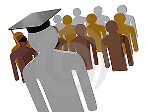 Scholar Leader Icon Symbol Royalty Free Stock Images - Image: 14156379