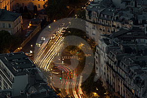 Night Intersection Stock Images - Image: 14158354