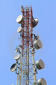 Telecommunications Tower Royalty Free Stock Image - Image: 14158746
